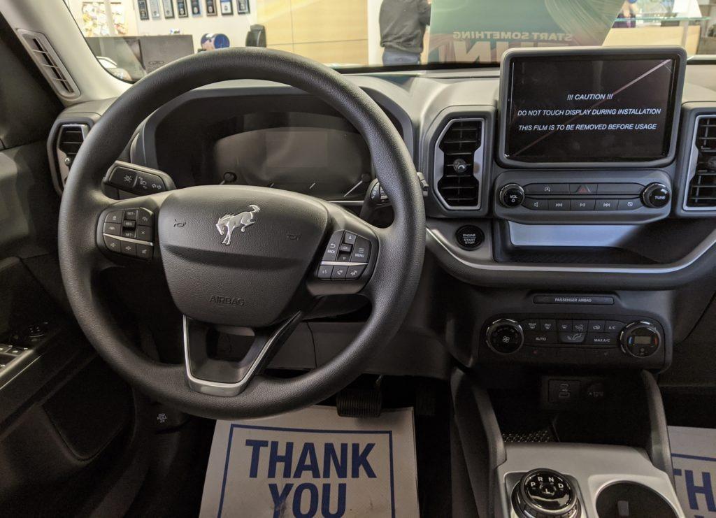 2021 Ford Bronco interior in Toronto