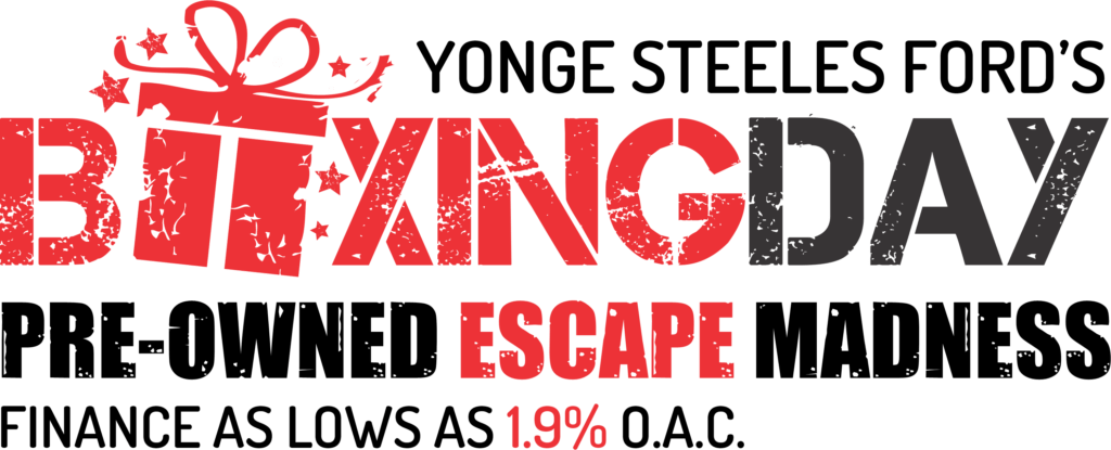 YONGE STEELES FORD'S BOXING DAY PRE-OWNED ESCAPE MADNESS