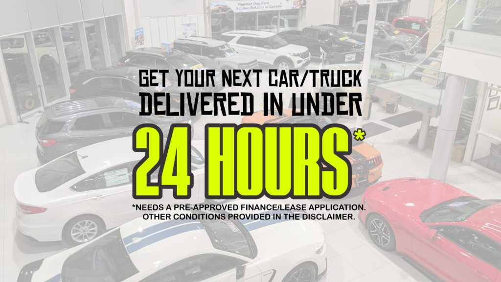 Ford car and truck delivery under 24 hours