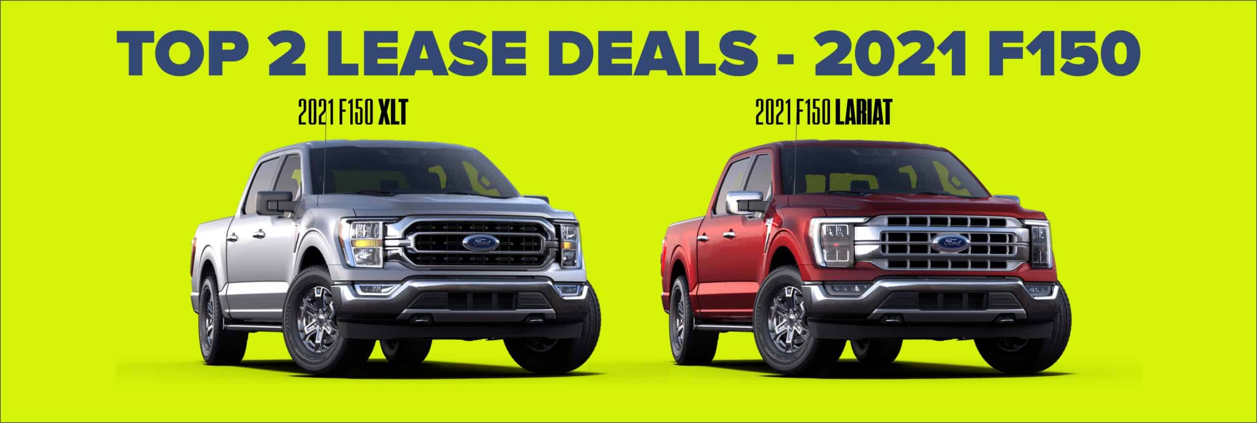 TOP 2 LEASE DEALS ON 2021 F150 LARIAT